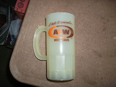 Collectible Vintage Plastic Mug - Advertising A & W Rootbeer And Restaurants