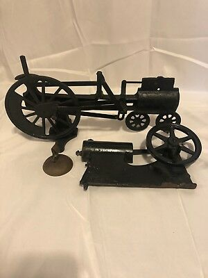 Lot of 2 1920s Cast Iron Central Scientific Cut Away Steam Engine Models