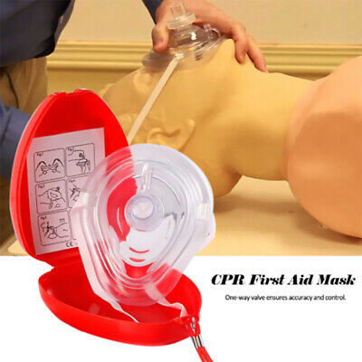 Portable First Aid CPR Rescue Oxygen Inlet Face Shield Human Breathing Mask Mini