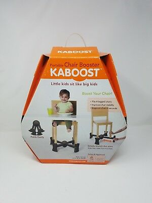 Kaboost Brown Portable Chair Booster Toddler Sturdy Safe Rubber Feet NEW Box