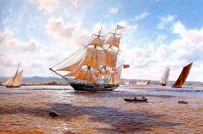 Holiday Gifts Home Art Decor Ship Boat Oil Painting Picture HD Printed On Canvas