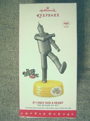 "Mint 2016 Hallmark Wizard Of Oz ""If Only I Had A Heart"" Ornament; Sound"