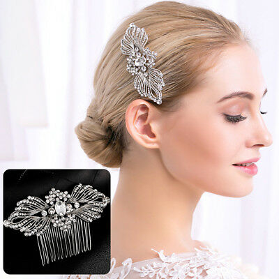 KD_ Fashion Bridal Sparkling Rhinestones Hair Comb Hairpin Clip Jewelry Afford