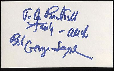 Mel Torme Signed Index Card Signature Autographed Vintage Auto Excellent In Quality