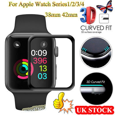 For Apple Watch 42mm 38mm 3D Tempered Glass Film Full Coverage Screen Protector