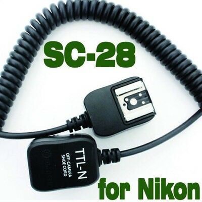 i-TTL Off Camera FLASH sync Cord for Nikon SB-700 SB-800 SB-900 SC-28 SC-17  3M