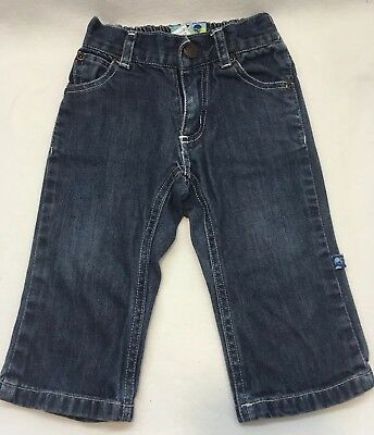 Kickee Pants Baby Boy/Girl Jeans Blue Size 12-18 Months BAMBOO