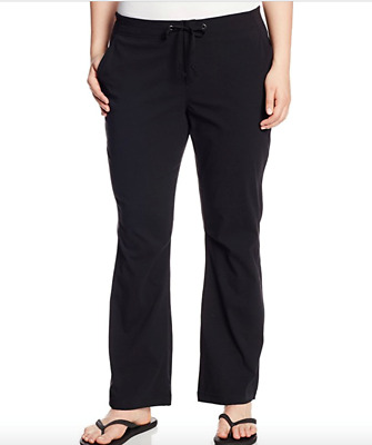 Columbia Anytime Outdoor Bootcut Pant Womens Plus size 24W Black