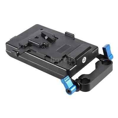 V Type Battery Plate with 15mm Rod Clamp E6 Adapter for Canon 5D2 5D3 60D F8C3