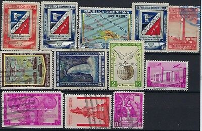 Dominican Republic, Selection of 12 stamps, used