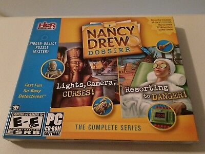 """nancy Drew Dossier"" Complete Series Adventure Game Seriespc / Cd Rom Software"