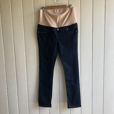 JEANSWEST maternity skinny straight size 14 dark denim stretch