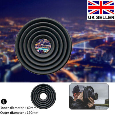 190mm Silicone Lens Hood Anti-reflective For Camera Photography Outdoor Indoor