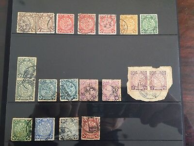 China Coiling Dragon Stamps - 19 pcs Sound Used
