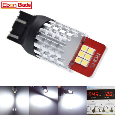 2X Super Bright White 2835 12-SMD 7443 7440 LED Bulbs For Turn Signal Backup DRL