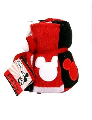 NWT Disney Mickey Mouse 6 piece embroidered Wash Pack 100% cotton kid-friendly