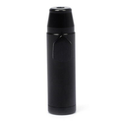 Black Snuff Boxes Metal Sniff Snorter Perfect Sniffing Rocket Tube vial