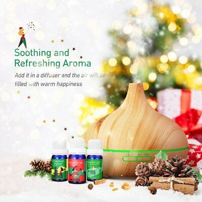 Wood Grain Ultrasonic Aromatherapy Essential Oil Diffuser Humidifier Xmas gift