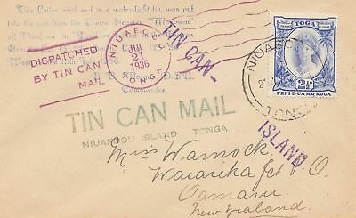 Toga: Tin can Mail - Blechdosenpost - to New Zealand