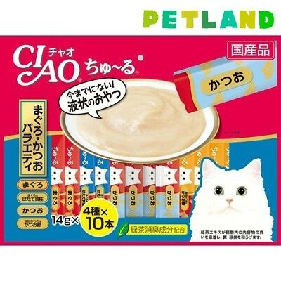 CIAO Churu Cat Lick Snacks Milky Treat 14g x 40sticks Tuna Bonito Variety set