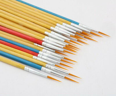 10pc Painting PEN student signature practice Art Supplies Paint nylon Brush Pen