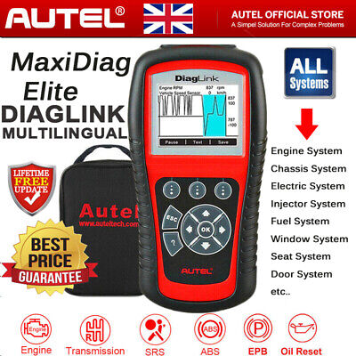 Autel MaxiDiag Elite MD802 Diagnostic Scanner All System Auto Car Code Reader UK