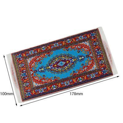 1:12 Miniature Woven Carpet Turkish Rug for Doll House Decoration Accessory NEW