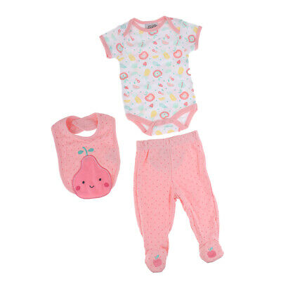 Newborn Baby Doll Casual Clothes For Reborn Rompers Pink Trousers Bib Suit