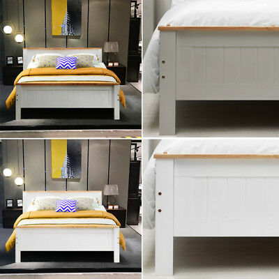 Modern Solid Wooden Panel Bed Frame Single/Double/King Size Bedroom Furniture