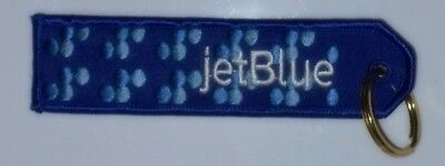 JetBlue Airlines Keychain Key ring Jet Blue embroidered blue livery logo pattern