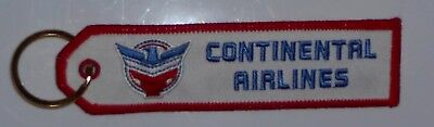 """Continental Airlines United """"Eagle"""" Logo Embroidered Key Chain Keyring Licensed"""