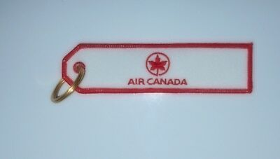 """Air Canada Airlines """"Canadian Maple Leaf"""" Logo Key Ring Chain Official License"""