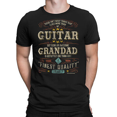 Guitar GRANDAD Mens T-Shirt FATHERS DAY Gift Music Guitarist GrandFather Family