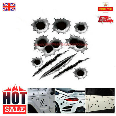 21x30cm 3D Simulated Bullet Hole Waterproof Car Sticker Scratch Decal Motorcycle