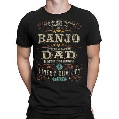 Banjo DAD Mens T-Shirt FAMILY Relations Gift Musician Music Instrument Father