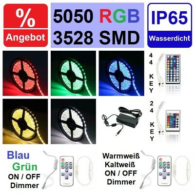 LED Strips Leiste Band Strip Streifen Stripe RGB 5050/3528 SMD wasserdicht Trafo