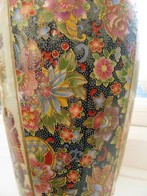 Chinese Large Vase, Heavily Decorated and Gilded, Frilled Top