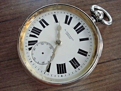 1912 Large Solid Silver A. YEWDALL LEEDS Fusee Pocket Watch