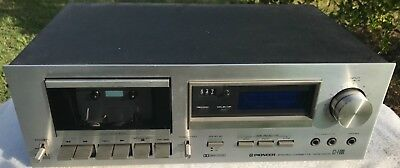 VINTAGE PIONEER SILVER FACE STEREO CASSETTE DECK Model #CT-F600