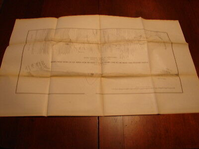 1878 Monroe Furnace Map Showing Fossil Ore Ranges Shaver's Creek Huntingdon, Co.