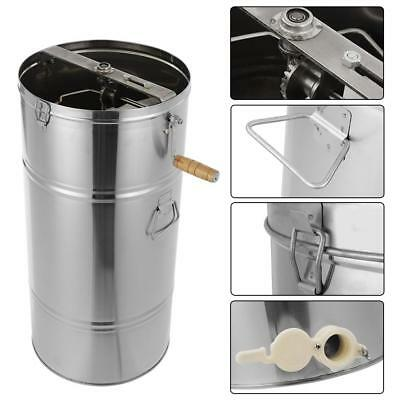 Stainless Steel Manual 2 Frames Bee Honey Extractor Honey Centrifuge Beekeeper