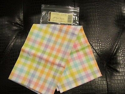 "Longaberger 16"" FABRIC SQUARE or BASKET Liner in COLOR ME SPRING NIB"