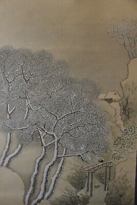 A01R2 ~Beautiful Snowing Winter Mountain Scenery~ Japanese hanging scroll