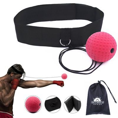 Boxing Reflex Speed Punch Ball Training Hand Eye Coordination With Headband