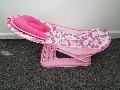 Summer Infant Deluxe Travel Baby Bather PINK Bath Support Seat Beach Chair