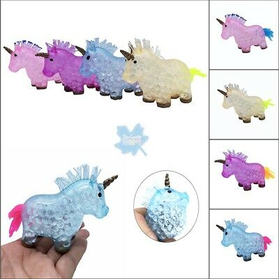 Unicorn Orbeez Squishy Squeeze Dolphin Shark Gift Clear Ball Crystal purple