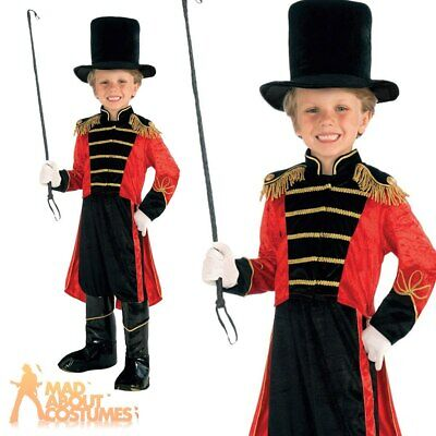 Child Ring Master Costume Greatest Showman Boys Book Week Day Fancy Dress Outfit