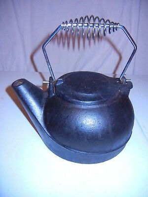 Black Vintage Wood Stove Cast Iron Kettle Humidifier Pot Steamer Fireplace