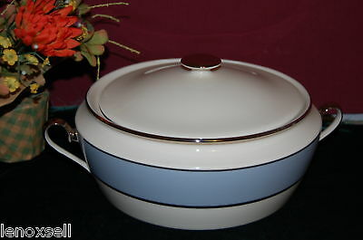 LENOX Blue Frost Covered Vegetable Bowl NEW $570 USA
