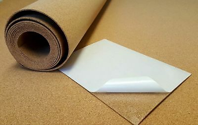 Self-Adhesive Craft Cork Sheet 1000mm x 450mm - 2mm thick BUY 3 GET ONE FREE